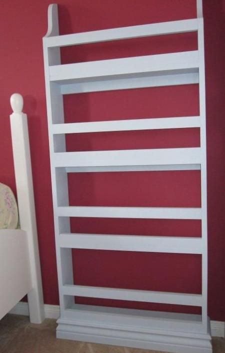 Flat Wall Bookcase - perfect for kids room!