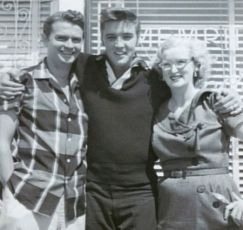 Elvis with Sun Records founder, Sam Phillips and Marion Keisker. (September 23, 1956)