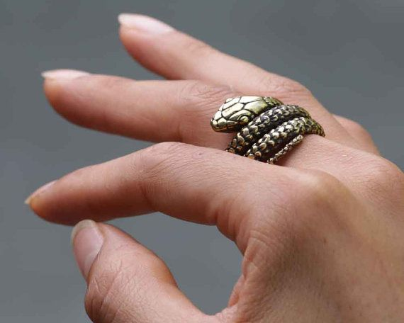 Snake Ring  Gold Snake Ring  Ouroboros  by eleven44jewelry on Etsy
