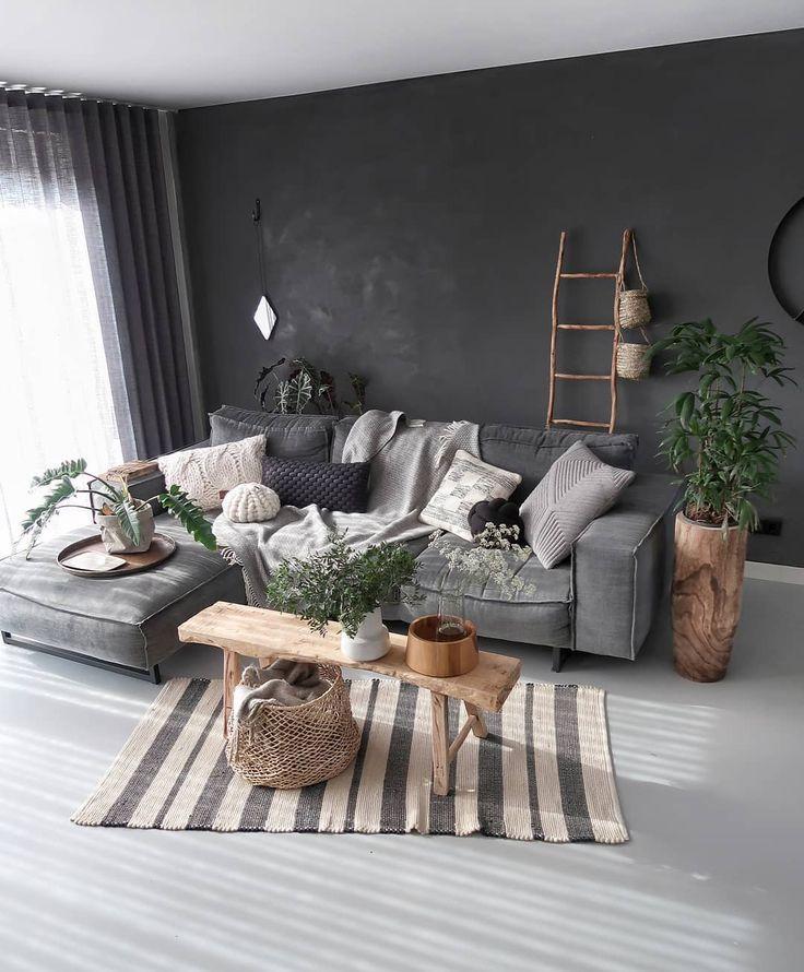 Beautiful Livingroom Idea Interior Ideas Livingrooms Huisdecoratie Deco Livingrooms Woonkamer Desi Organic Living Room Dark Living Rooms Living Room Grey