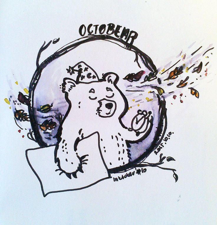 OctoBEAR - #inktober 10 Erika Bíró https://www.behance.net/szisszm0k