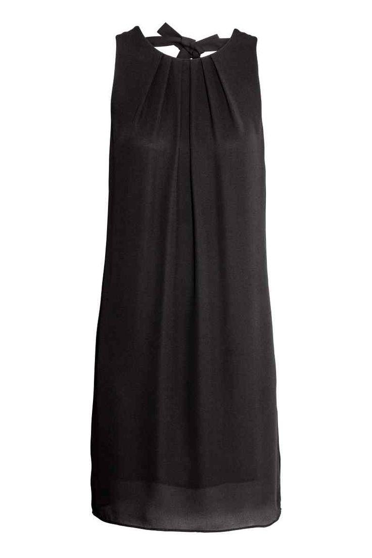 Lyhyt satiinimekko - Musta - Ladies | H&M FI