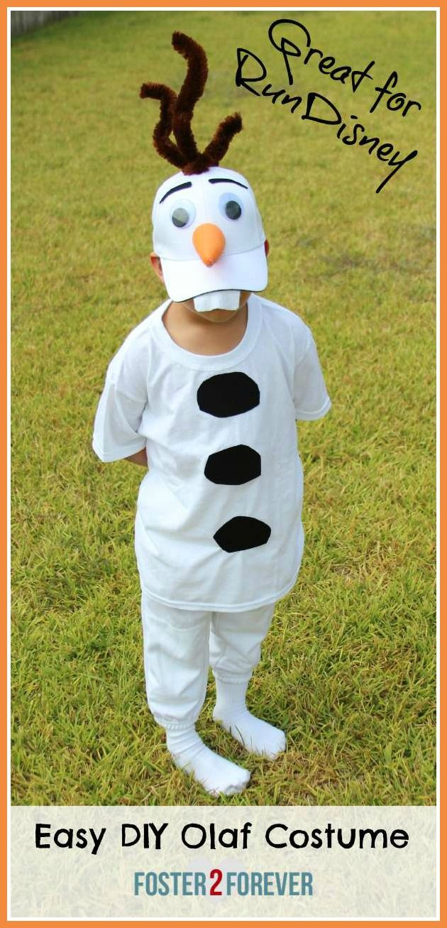 Easy DIY Disney Frozen Olaf costume for Halloween or RunDisney.