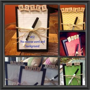 Dry Erase Board CHOOSE ANY NAME Scrabble by CelebratingTheMoment