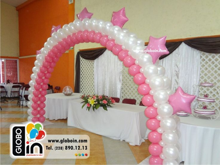Arco duo xv a os decoraciones para xv a os con globos for Decoracion con globos