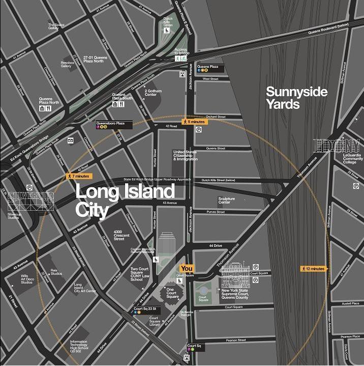 NYC wayfinding long island city pedestrian map