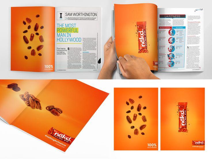 Nākd bars #print #graphicdesign #magazine #ad #advert #advertising