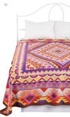 diamond medallion tapestry: Bed Covers, Diamond Medallion, Bedroom Inspiration, Color, Bold Pattern, Master Bed, Summer Bedspread