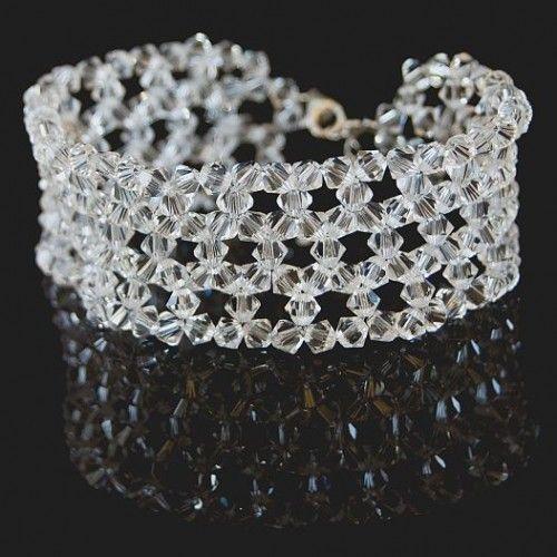 Bransoletka Swarovski 334 - Biżuteria ślubna - Biżuteria srebrna