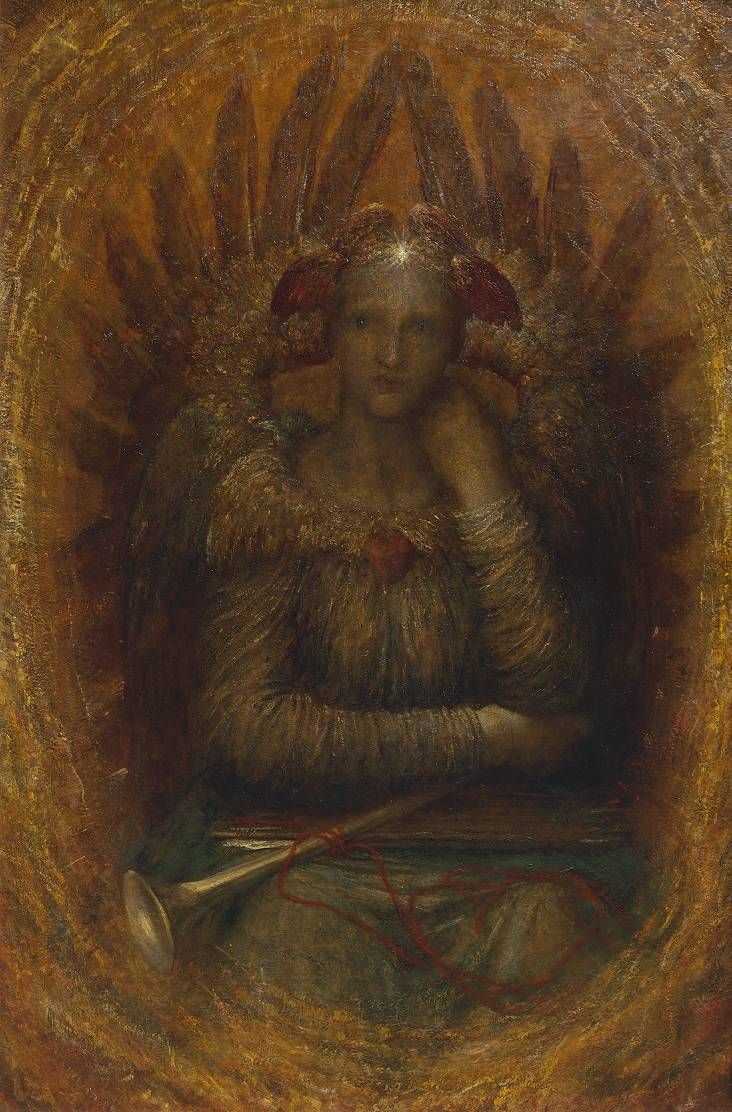 The Dweller in the Innermost by George Frederic Watts — 1885-1886  Oil on canvas