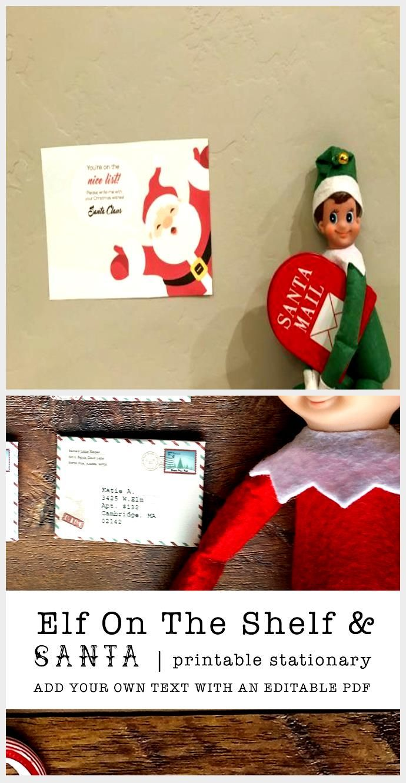 Great Photos Santa Letter Free Printable Elf on the