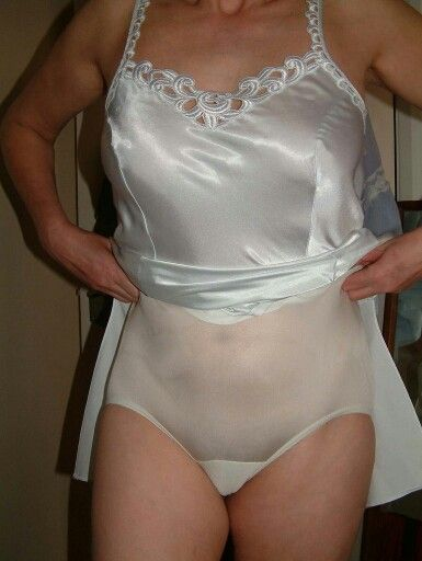 White Full Cut Panties And Blue Slip Fits All Gender