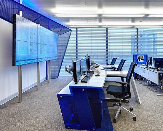 blue interiors | COZY BLUE Office interior design ideas | Architecture, Interior ...