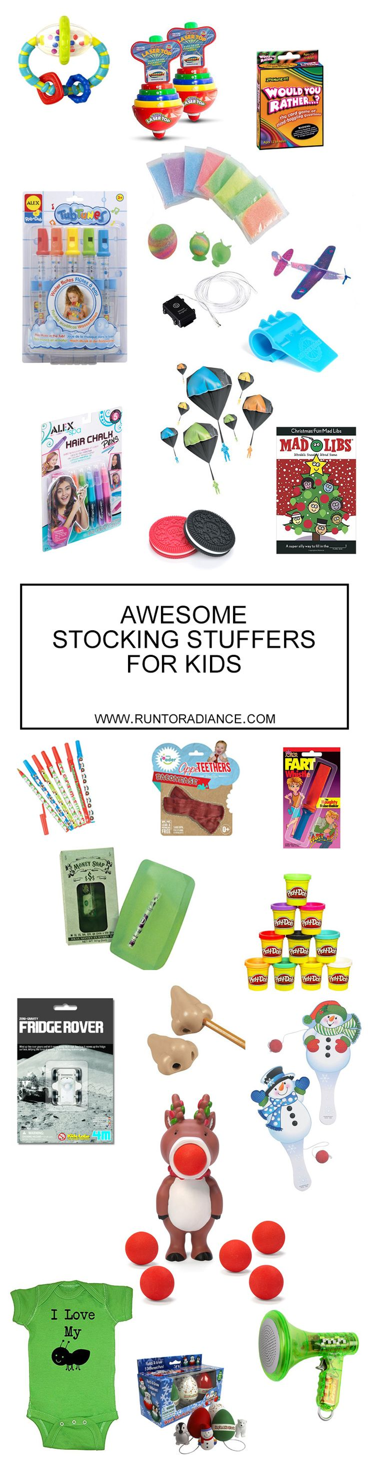 These stocking stuffer ideas for kids are so cute! I love that all these stocking stuffers for kids are available on Amazon Prime - hooray for shopping while drinking wine in PJs!