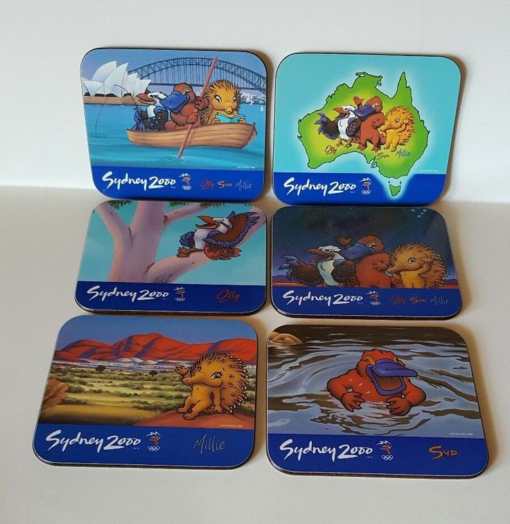 Sydney Australia 2000 Summer Olympic Mascot Barware Coasters Box Set/6 NEW  | eBay
