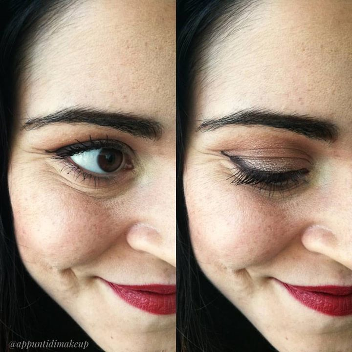 Dettaglio dell'eyeliner Nefertiti di @nevecosmetics: dovrebbe essere un marrone scuro a base calda anche se ammetto che dalla foto sembri quasi nero  è perché il colore è veramente molto scuro elegante ottimo per il trucco di tutti i giorni. Ho trovato lo scovolino abbastanza comodo nonostante io non ami molto gli applicatori in feltro  se volete dei bei colori di eyeliner prodotti bio senza dover spendere una fortuna io questi ve li consiglio  #FOTD #faceoftheday #EOTD #eyeoftheday…