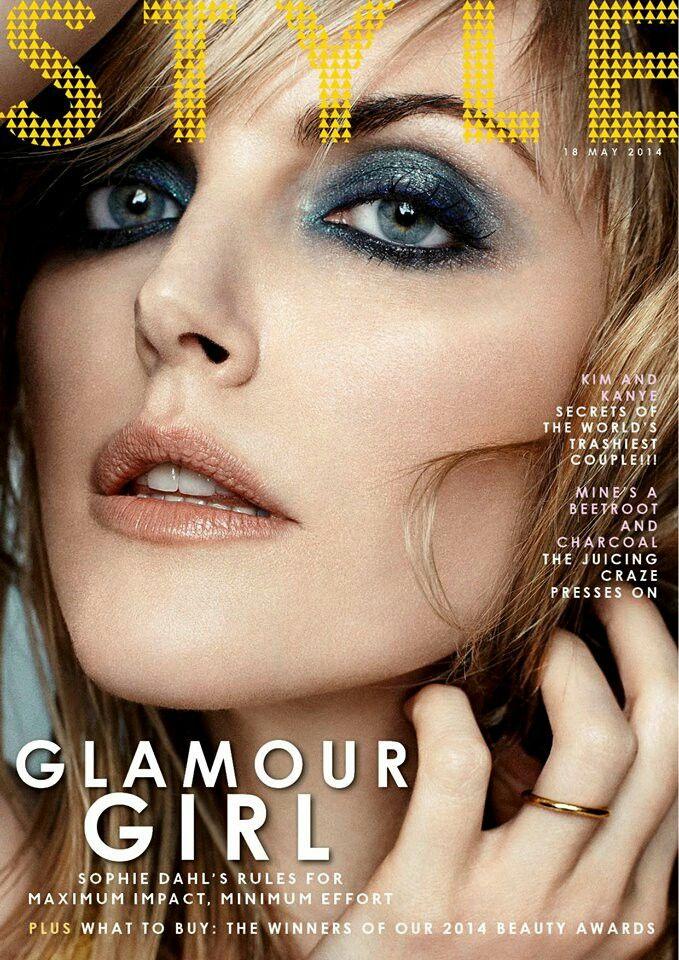 Blue smoky eye. Sophie Dahl. Makeup by Lisa Eldridge.