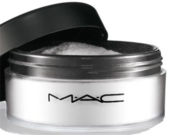 Mac Prep and Prime Powder. I don't leave my house without it. This translucent powder sets your makeup perfectly. Your face looks flawless!