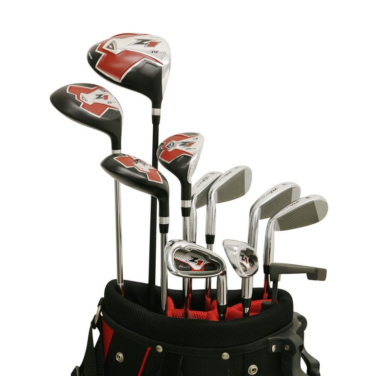 Featuring a driver with an enlarged sweet spot these mens Z1 17-piece outfit complete golf club sets by Nextt also come with a graphite friendly bag