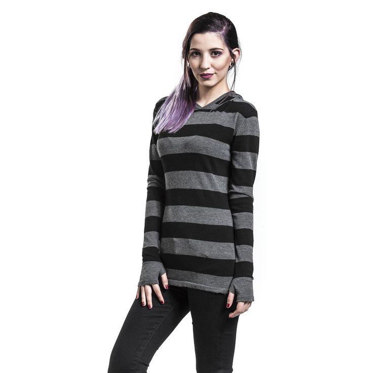 """Felpa """"Big Stripes Hoodie"""" del brand #PussyDeluxe."""