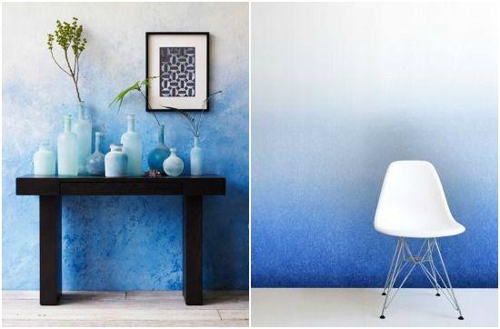 5 awesome ways to use indigo in your home | Trend shake: indigo coloe 2014 | Indigo ombre wall
