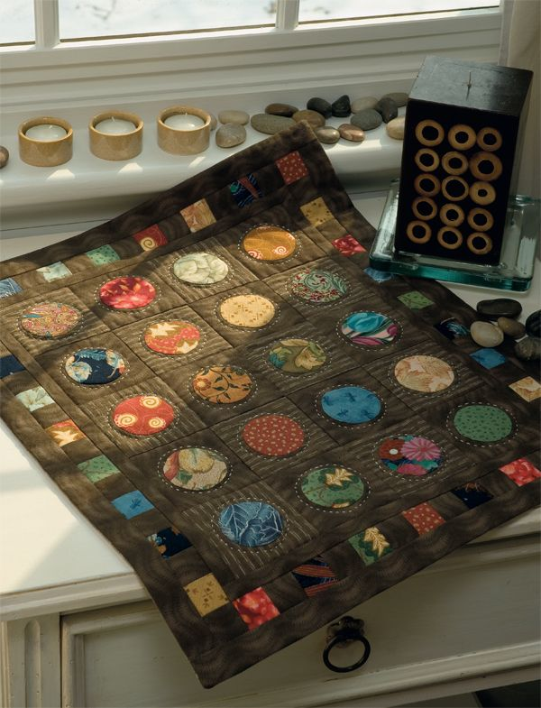 "quilts with circles | Japanese Circles"" by Karen Costello Soltys (finished size: 17½ ..."