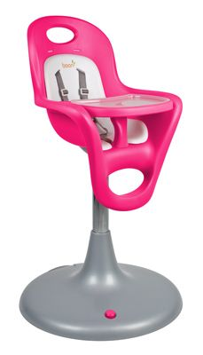 I'm obsessed with this highchair that I just bought. The best baby product I have possibly ever purchased. Easy to clean, wheels around with a brake and has a hydraulic lift button so you can adjust height and pull up to table. LOVE.