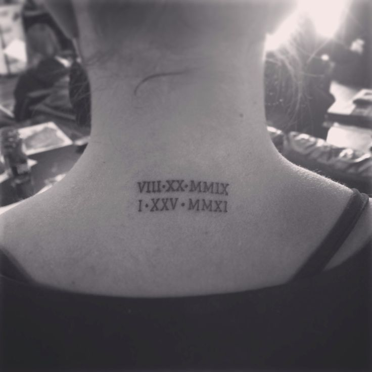 Kids' birthdays in Roman numerals #tattoo
