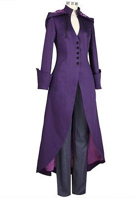 Пальто черный готический пиджак стимпанк военные дамы гот панк Эмо Лонг Vintage UK