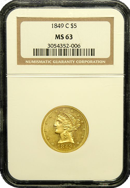 It isn't every day one encounters Charlotte mint gold with this type of eye appeal.  Superbly struck of bright yellow gold it shimmers in the NGC holder.  With just under 65K minted, around 400 are known in all grades combined with this being a top 10 example known.