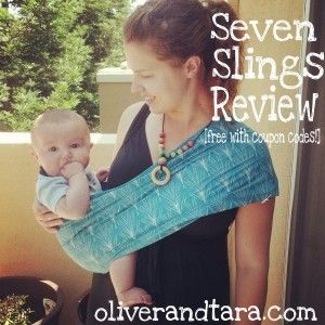 Seven Slings review up on our family blog - with coupon codes for a free sling, car seat canopy and udder cover (nursing cover).