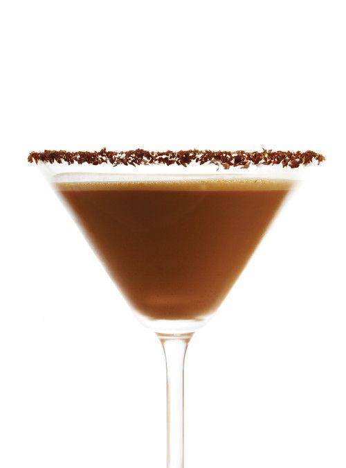 Martini au chocolat avec du Gianduia Bottega Recettes | Ricardo (Nous proposons de servir ce cocktail à l'apéro.)
