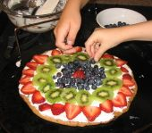 Pampered Chef Fruit Pizza... the original fruit pizza recipe. YUM!