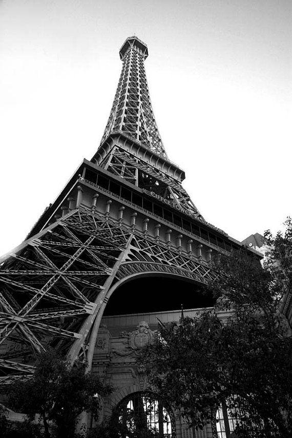 Paris art Eiffel tower photography black and by freezeframefoto, $24.95