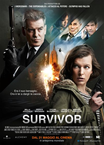 Survivor (film, thriller, azione) diretto da James McTeigue con Milla Jovovich, Pierce Brosnan ... al ‪#‎cinema‬ dal 21 maggio 2015 ... ‪#‎film‬ ‪#‎trailer‬