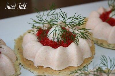 Blog de sucresale :sucré, salé, Panna Cotta au saumon et son biscuit aux herbes