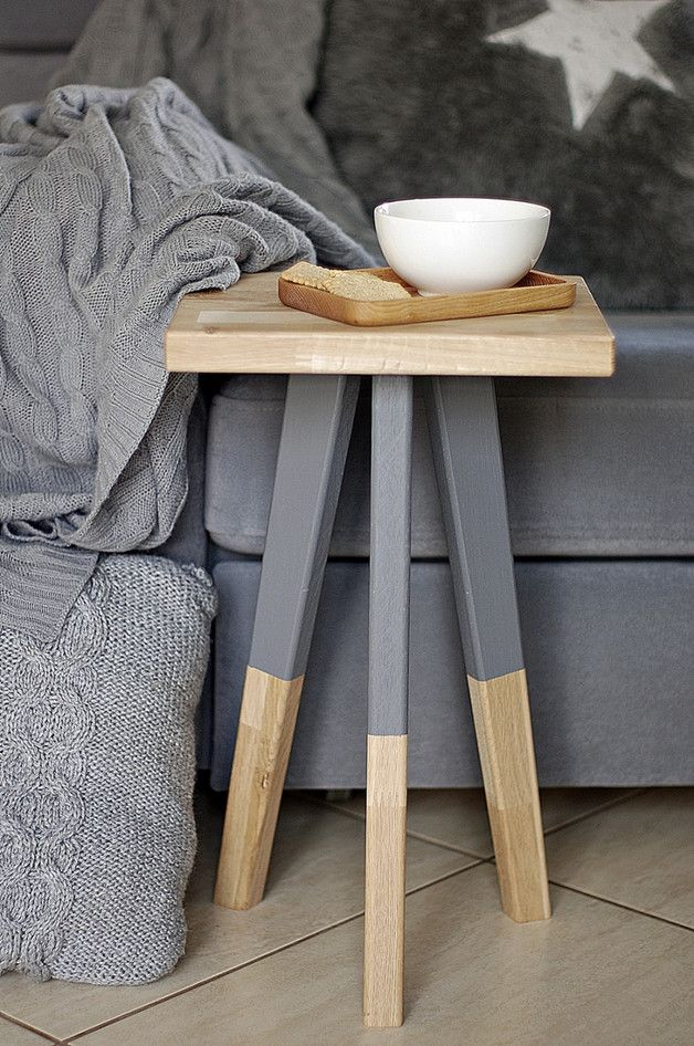 Great gift for minimalists. Side Tables / simple wooden stool – a unique product by Any-THING via en.DaWanda.com
