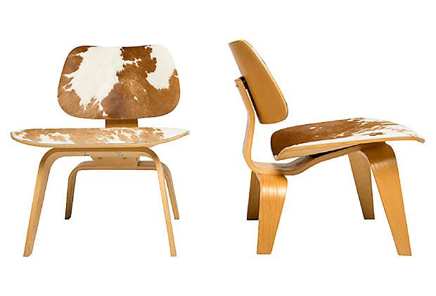 love the mix // Herman Miller LCW Cowhide Chairs