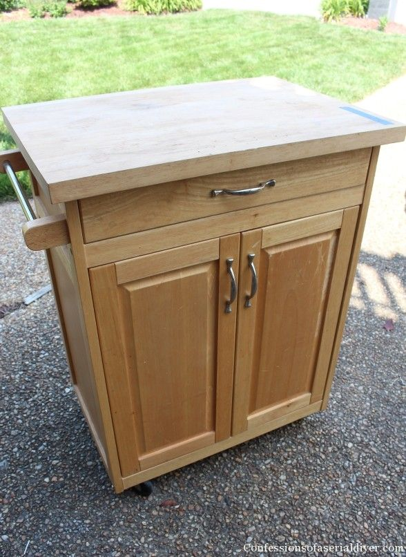Rolling Kitchen Cart Makeover | Confessions of a Serial Do-it-Yourselfer