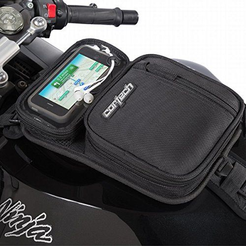 "Cortech Micro 2.0 Motorcycle Tank Bag, Black  Cortech Micro 2.0 Motorcycle Tank Bag, Black Cortech is a leading brand for the riding gears. For over decade, Cortech specializing in high-tech sportbike riding gear. Greatly expanded Cortech offers product line into the wide ranging, technically sophisticated riding gears, luggage, gloves and boots.     Convenient, low-profile tank bag that easily carries small essential items    Ventilated media pocket accommodates devices up to 6""L x .."