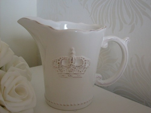 WHITE CROWN MILK JUG