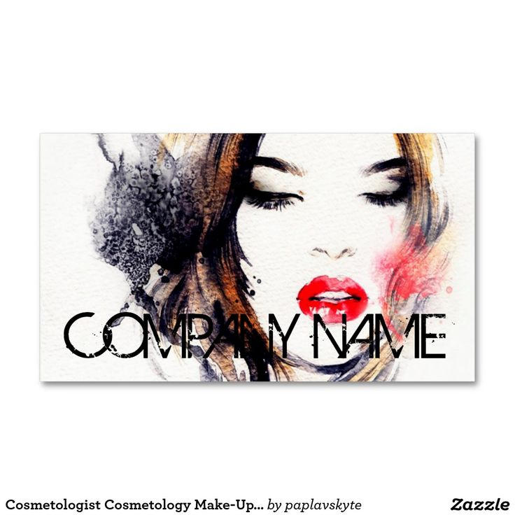 Cosmetologist Cosmetology Make-Up Artist Elegant Business Card