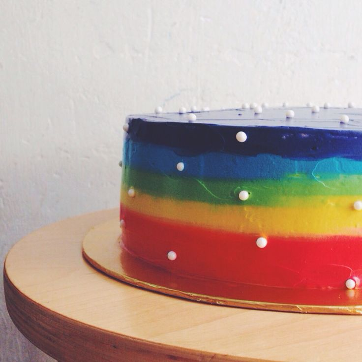 Somewhere over the Rainbow cake #jemcakesandcookies