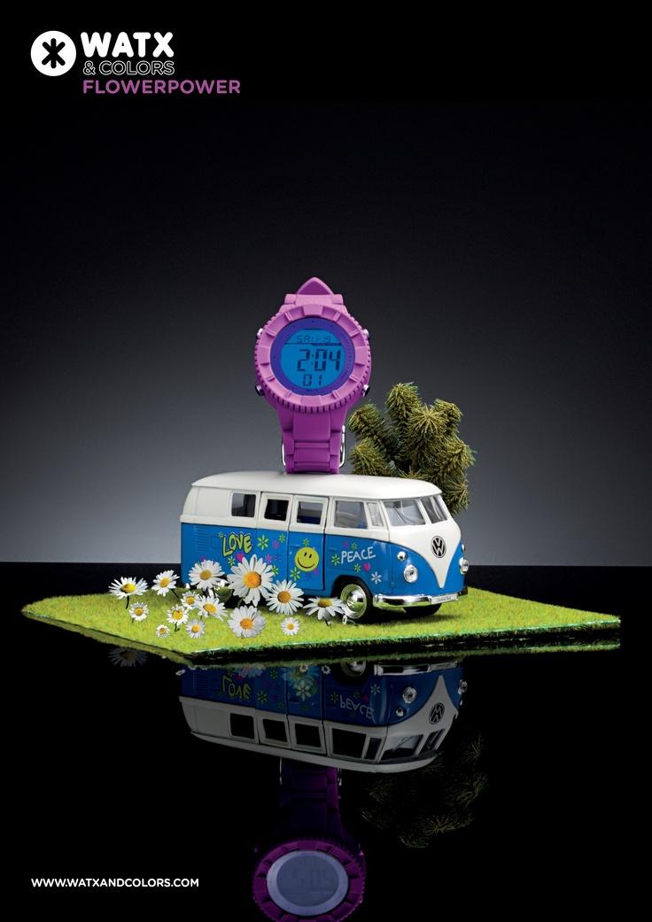 WATX & COLORS Flowerpower: Relojes de colores tendencia con esferas y correas intercambiables. ¡Más de 100 combinaciones diferentes para estrenar reloj cada día!