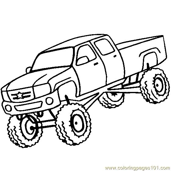 best 20+ big monster trucks ideas on pinterest | all truck, lifted ... - Monster Truck Coloring Pages Easy