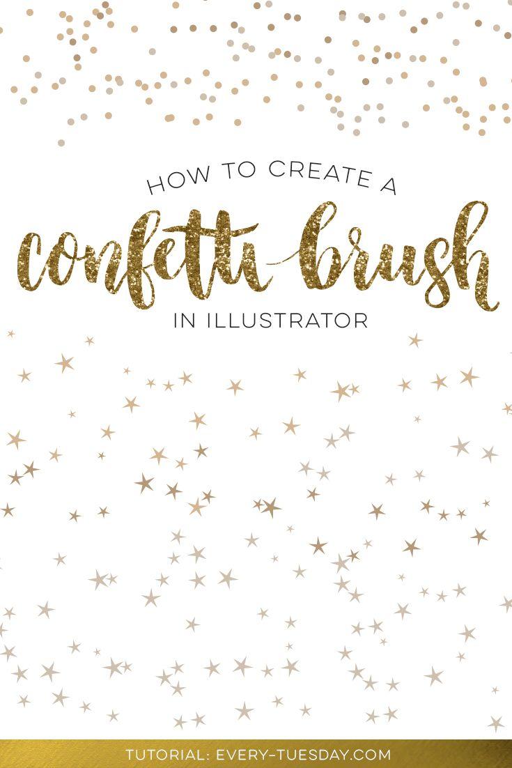 How to create a confetti brush in adobe illustrator