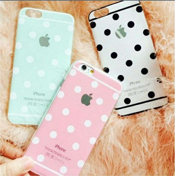 Nwt- iPhone 6 case Brand new iPhone 6 case, white w/ back circles. This is a Silicon type of case.  FINAL PRICE Accessories Phone Cases