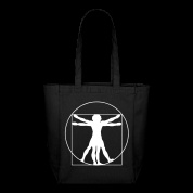 tote bags / Personalized tote bag with da Vinci's famous Vitruvian man design.