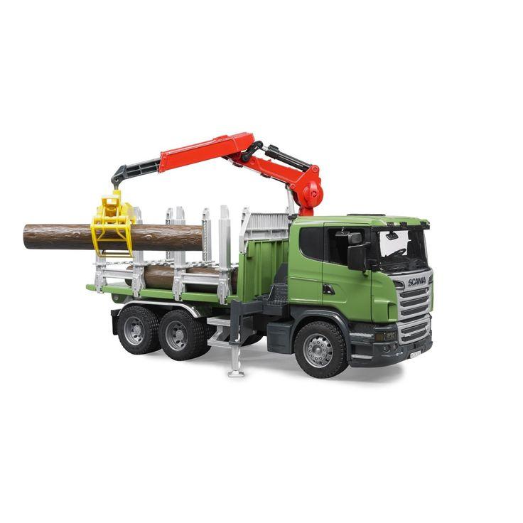 Camion Bruder 03524, Scania forestier cu macara