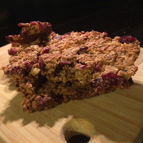 Vanilla Maple Cranberry Protein Granola